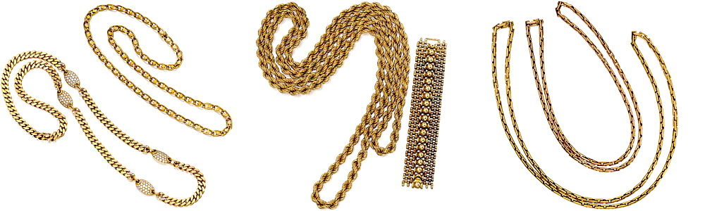Gold chains jewellery repair