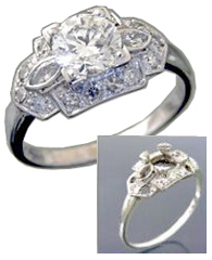 Before and after diamond ring repair